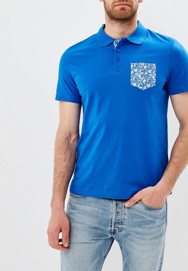 мужское поло modis, синее