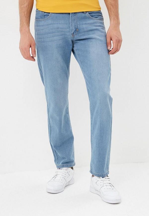 мужские зауженные джинсы modis, голубые