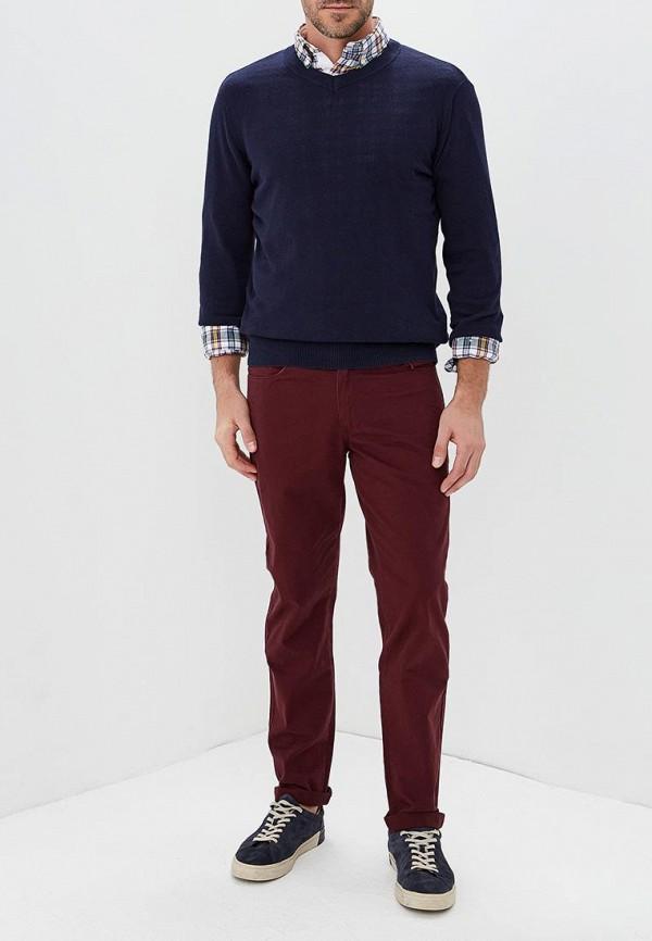 Фото 2 - мужской пуловер Modis синего цвета