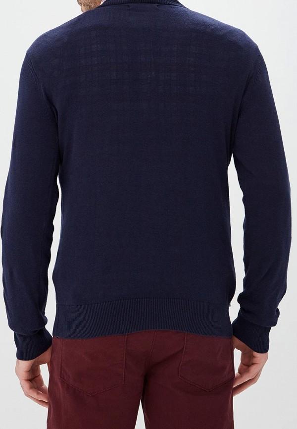 Фото 3 - мужской пуловер Modis синего цвета