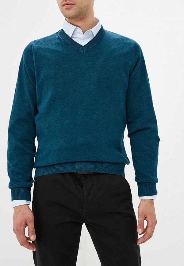 мужской пуловер modis, бирюзовый