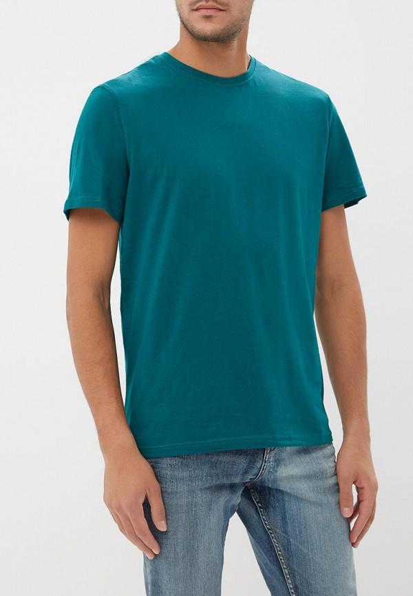 мужская футболка с коротким рукавом modis, зеленая