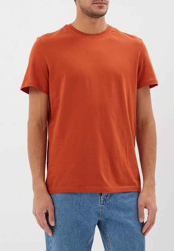 мужская футболка с коротким рукавом modis, коричневая