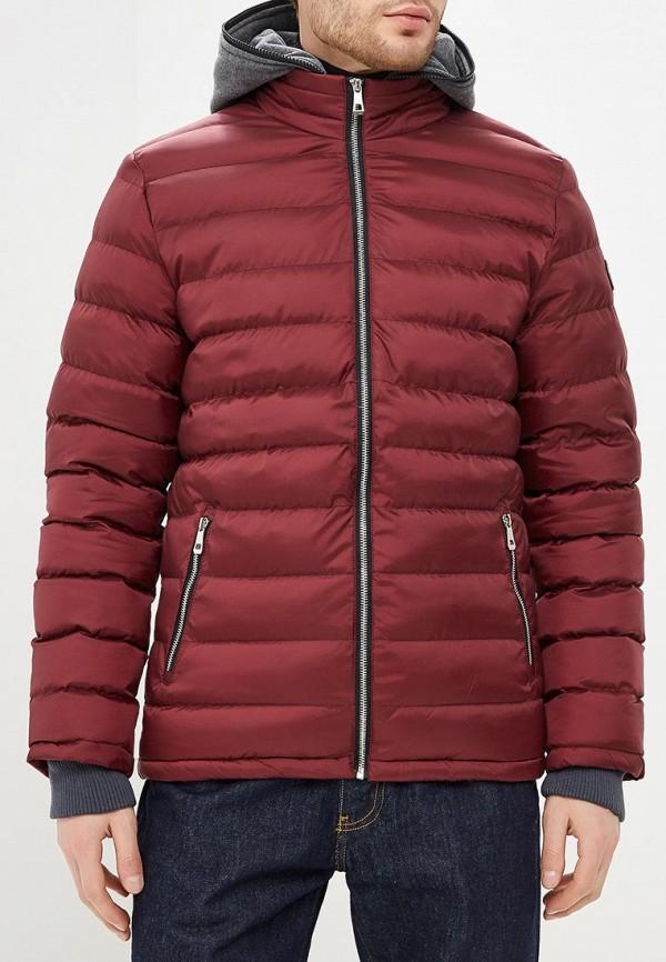 мужская куртка modis, бордовая
