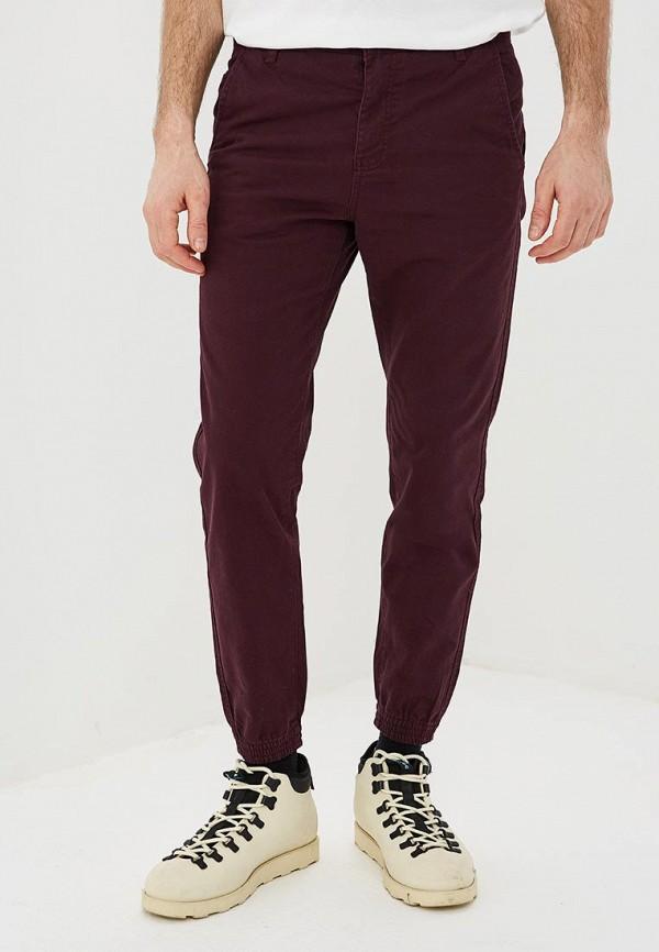 мужские зауженные брюки modis, бордовые