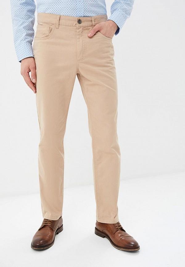 мужские зауженные брюки modis, бежевые