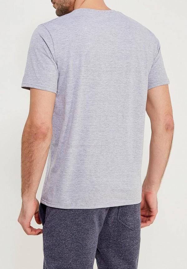 Фото 3 - мужскую футболку Modis серого цвета