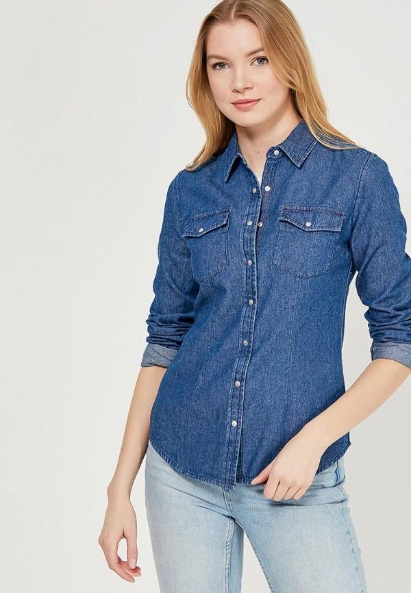 Рубашка джинсовая Modis, MO044EWAPVE0, синий, Весна-лето 2018  - купить со скидкой