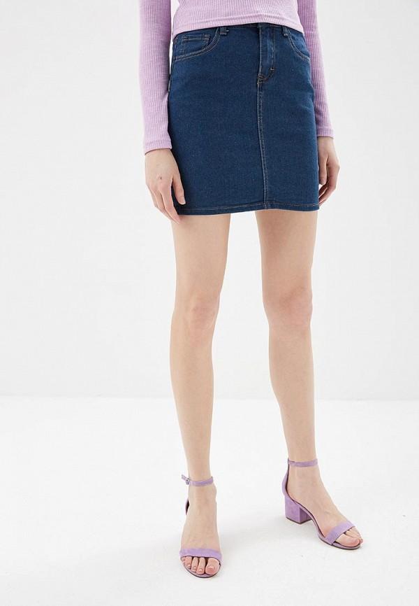 женская прямые юбка modis, синяя