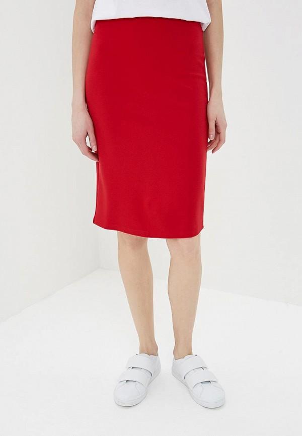 женская прямые юбка modis, красная