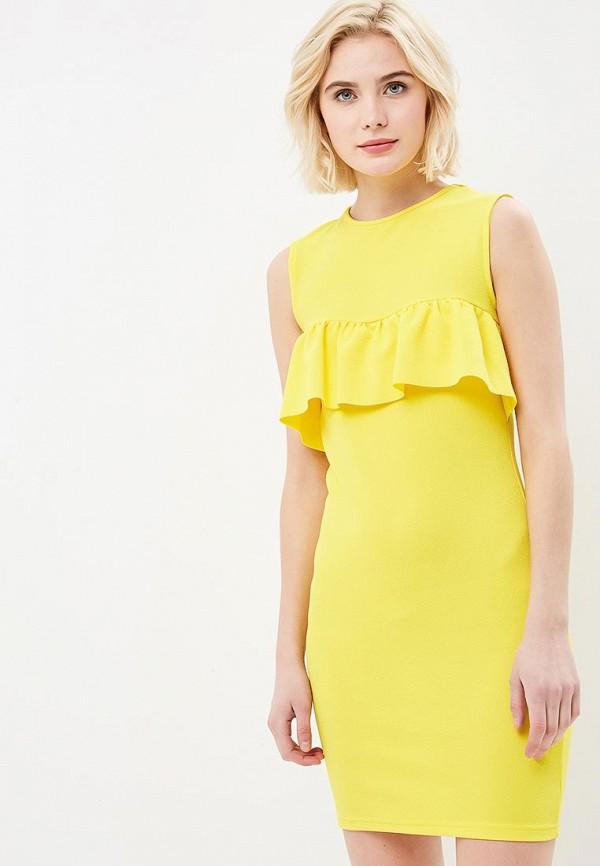женское платье-футляр modis, желтое