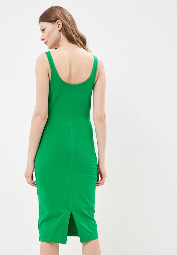 Фото 3 - женское платье Modis зеленого цвета