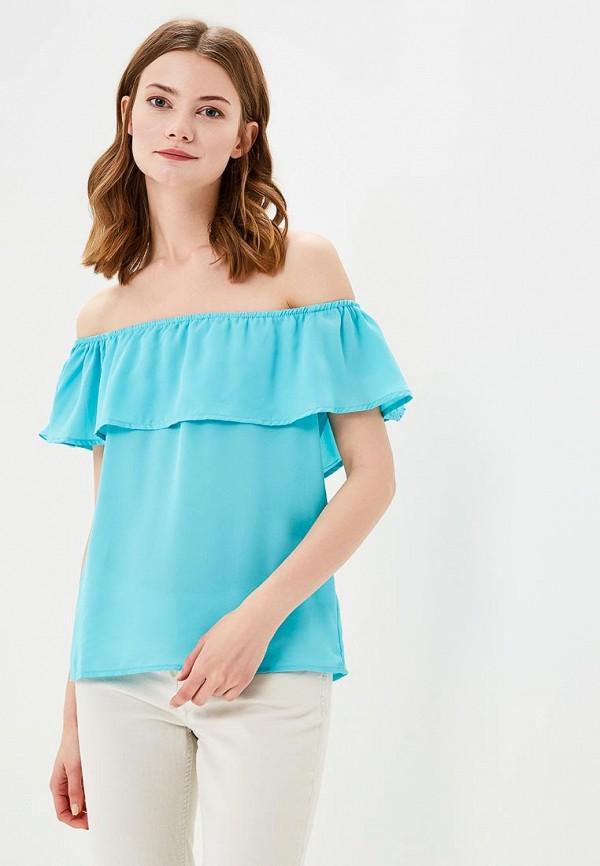 женская блузка modis, бирюзовая