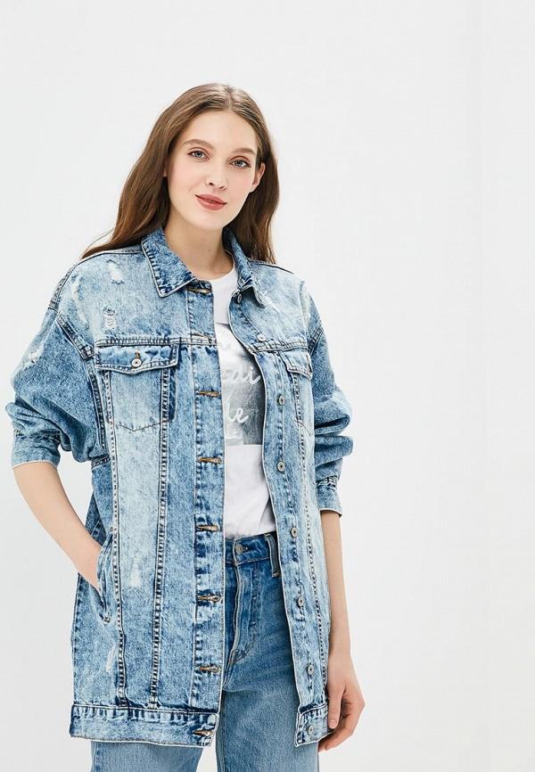 Купить Куртка джинсовая Modis, MO044EWBNWB4, синий, Весна-лето 2018