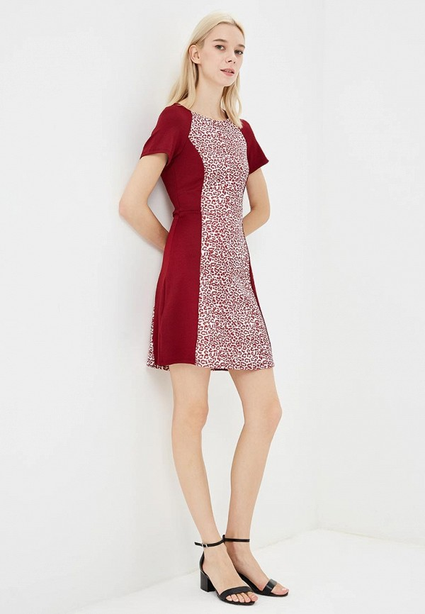 Фото 2 - женское платье Modis бордового цвета