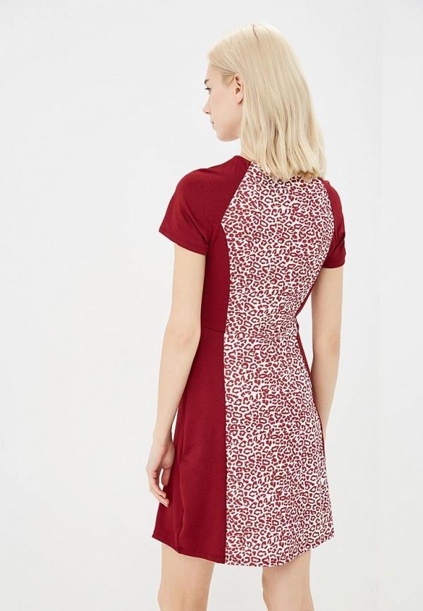Фото 3 - женское платье Modis бордового цвета