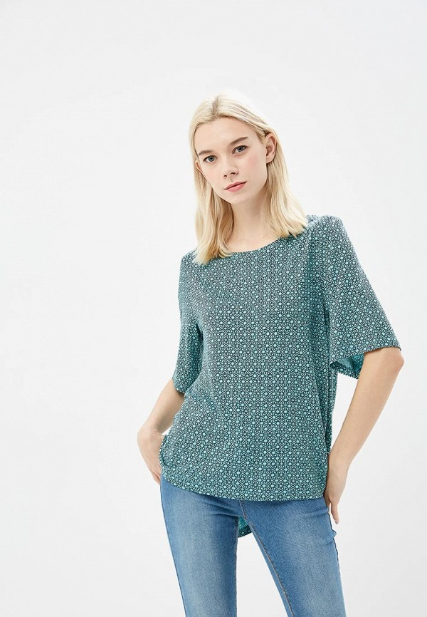 женская футболка modis, бирюзовая