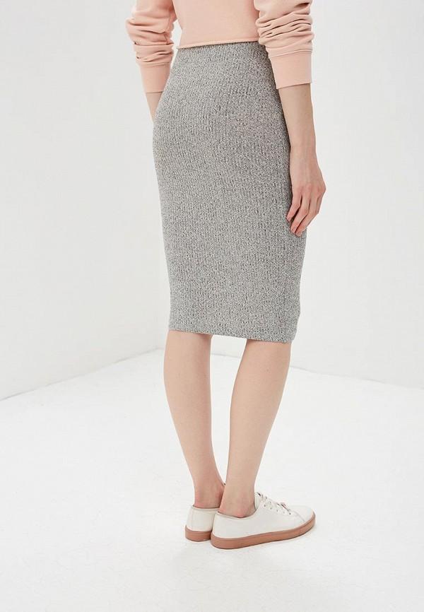 Фото 3 - женскую юбку Modis серого цвета