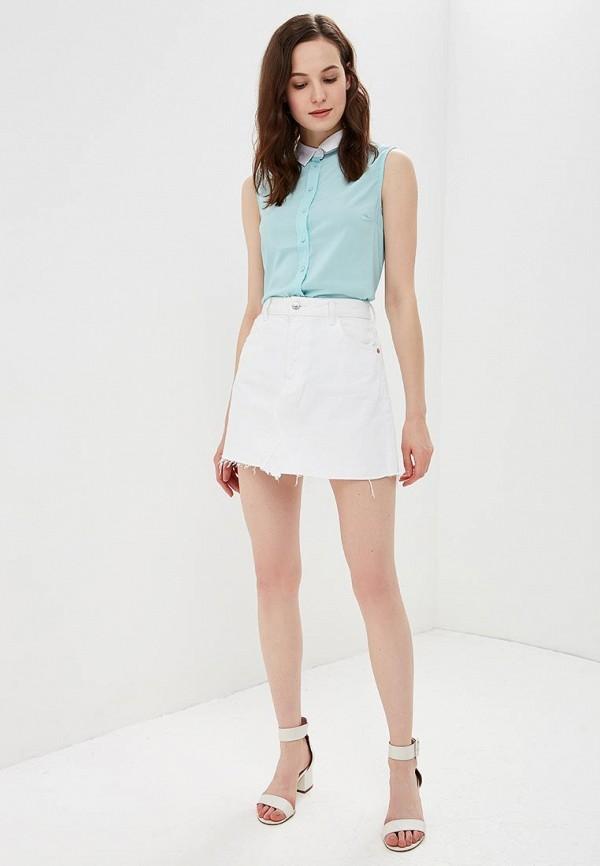 Фото 2 - женскую блузку Modis бирюзового цвета