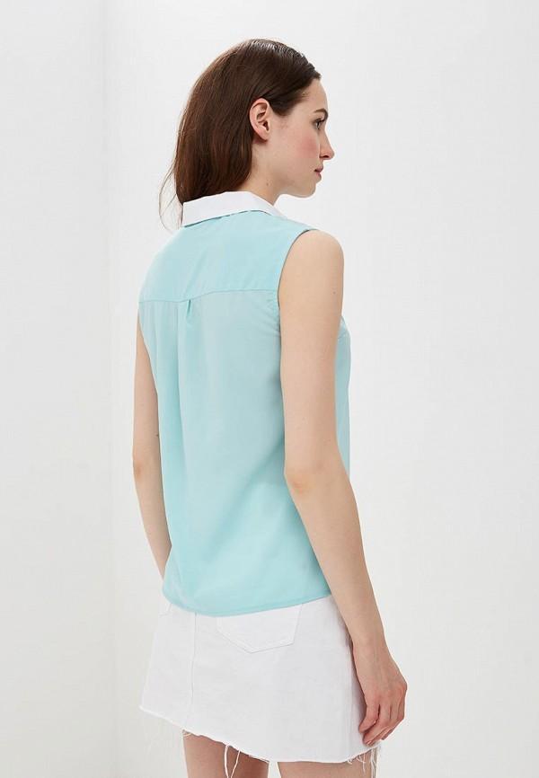 Фото 3 - женскую блузку Modis бирюзового цвета