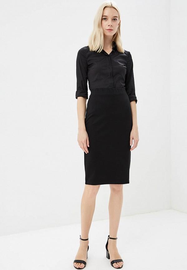 Фото 2 - женскую юбку Modis черного цвета