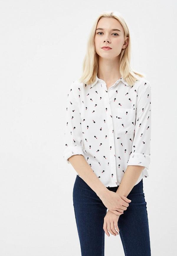 женская рубашка с длинным рукавом modis, белая