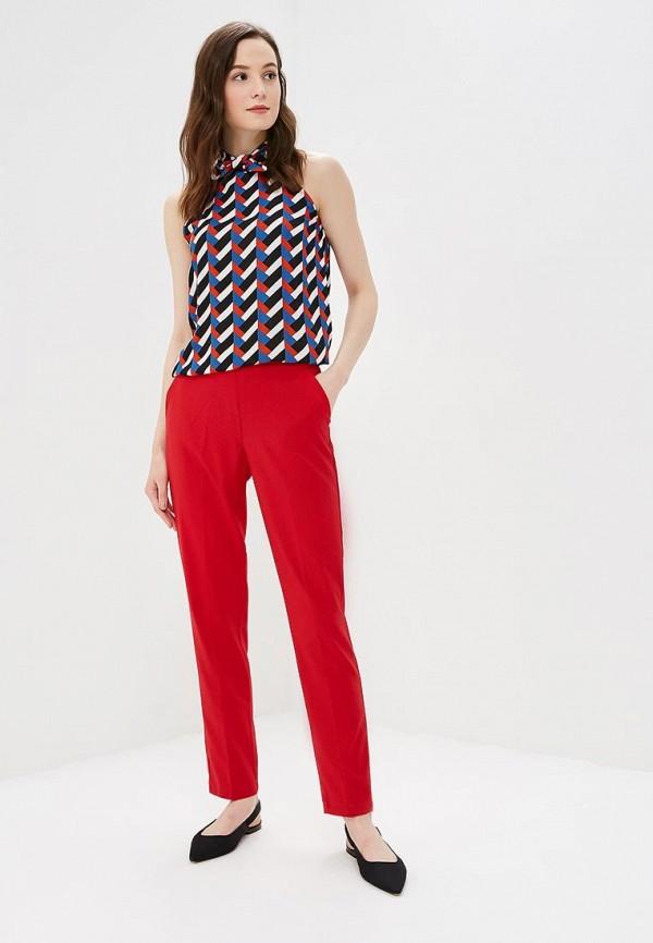 Фото 2 - женские брюки Modis красного цвета