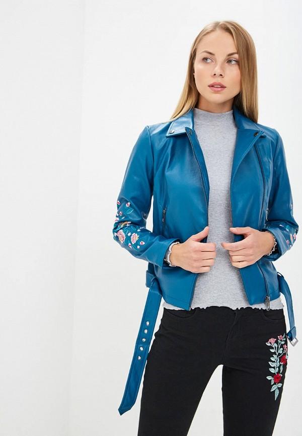 Купить Куртка кожаная Modis, MO044EWCBSQ0, синий, Осень-зима 2018/2019