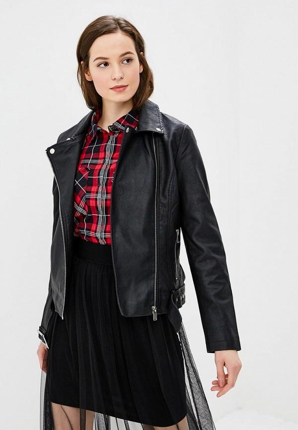 Купить Куртка кожаная Modis, MO044EWCBST4, черный, Осень-зима 2018/2019