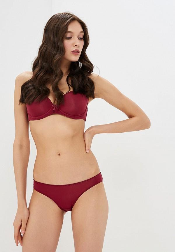 женский бюстгальтер на косточках modis, бордовый