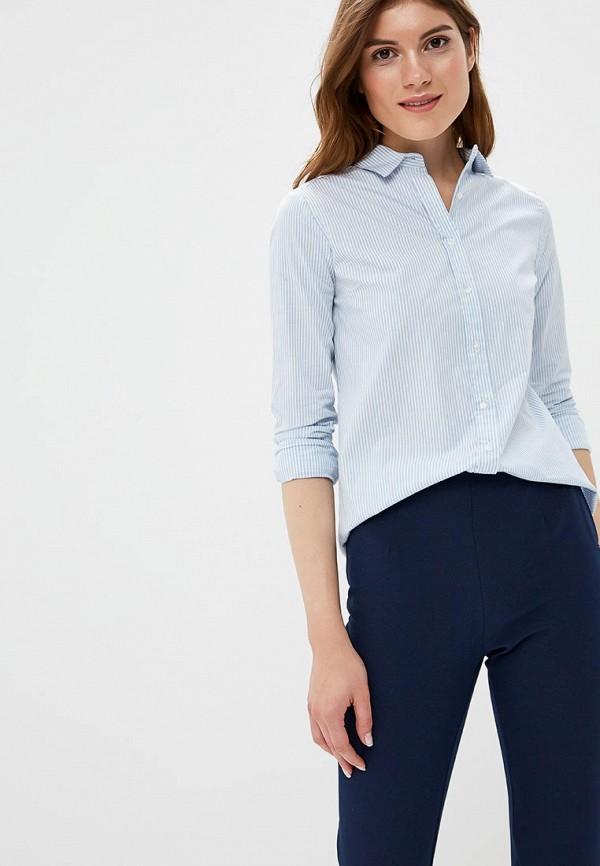 женская рубашка с длинным рукавом modis, голубая