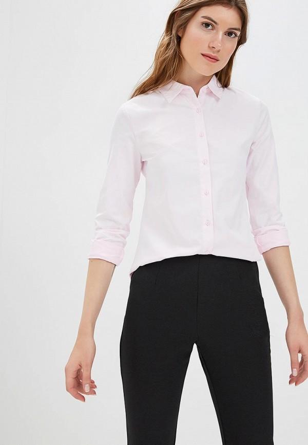 женская рубашка с длинным рукавом modis, розовая