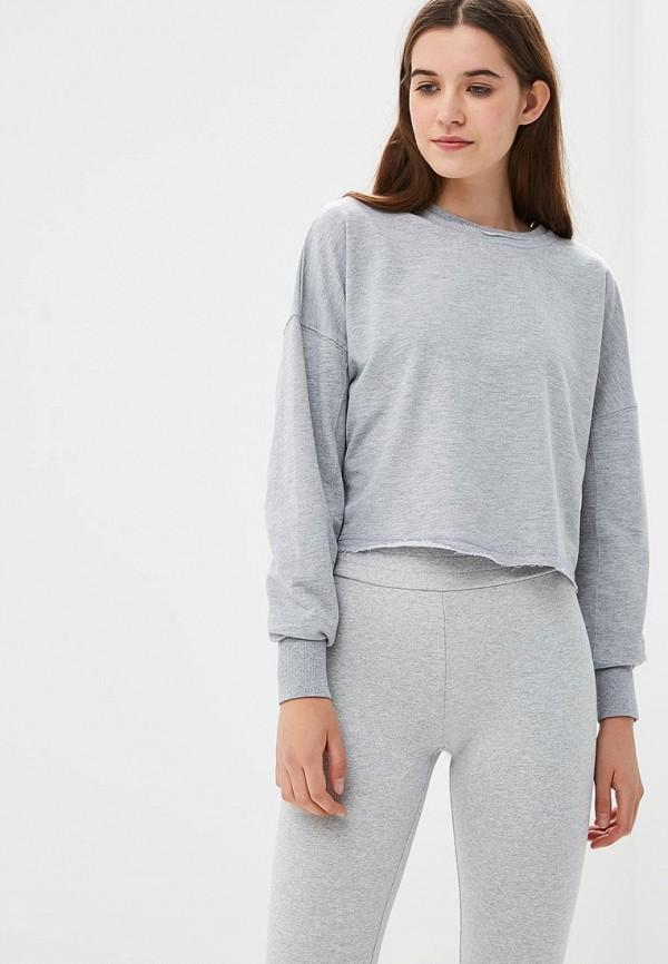 женский свитшот modis, серый
