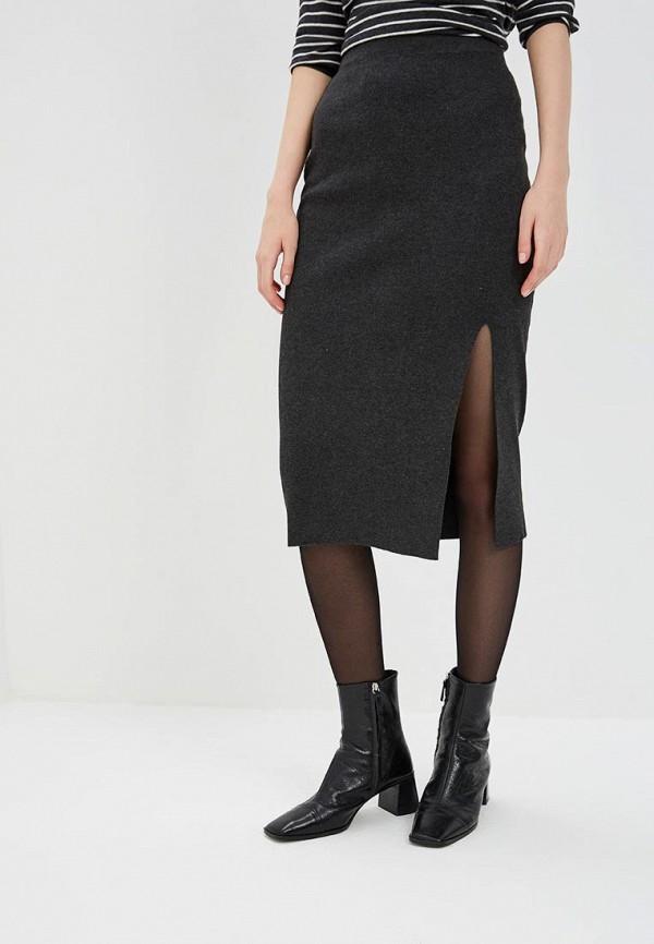 женская зауженные юбка modis, серая