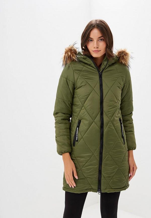 Купить Куртка утепленная Modis, mo044ewcsxm1, хаки, Осень-зима 2018/2019