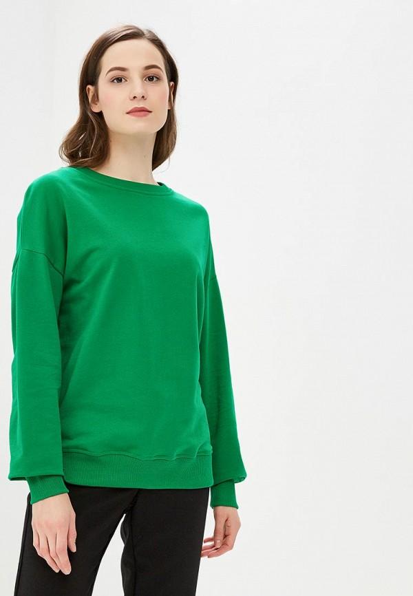 женский свитшот modis, зеленый