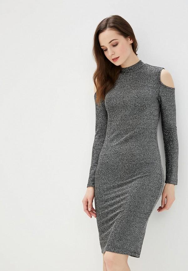 женское вечерние платье modis, серебряное
