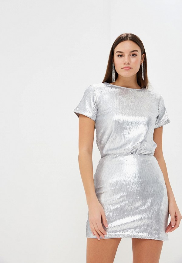 женская футболка modis, серебряная