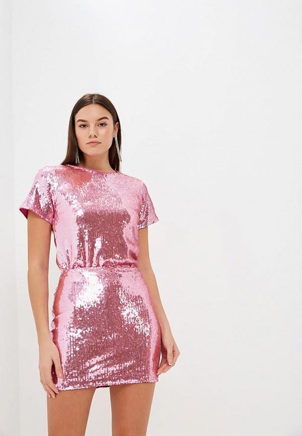 женская футболка modis, розовая