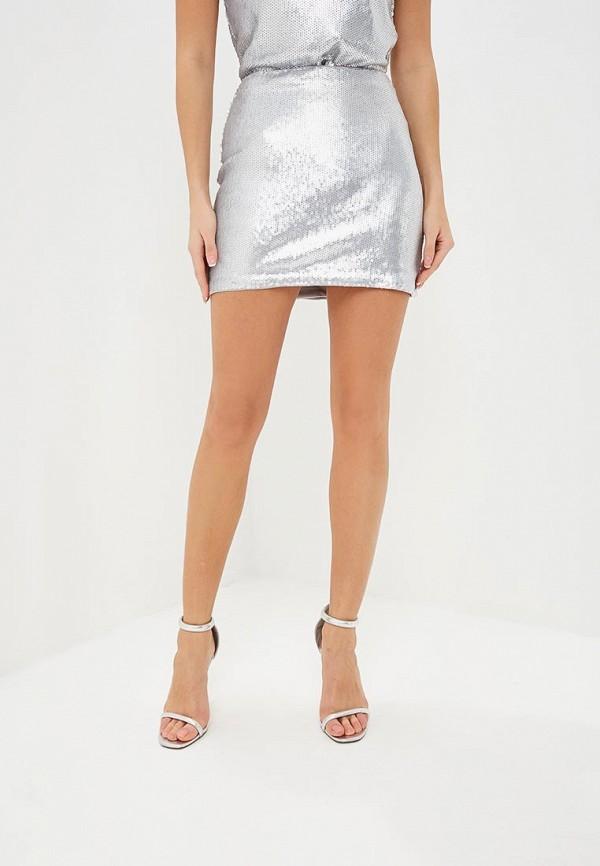 женская прямые юбка modis, серебряная