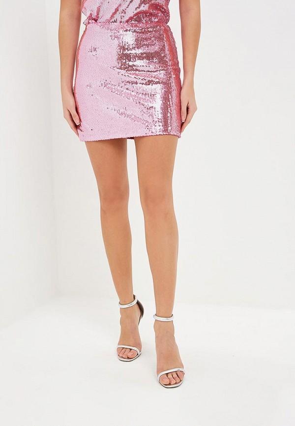 женская прямые юбка modis, розовая