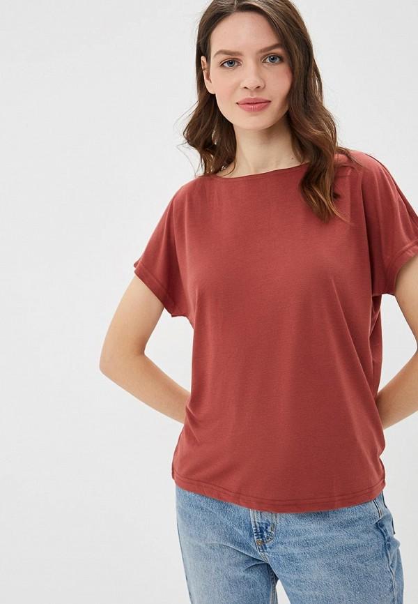 женская футболка modis, бордовая