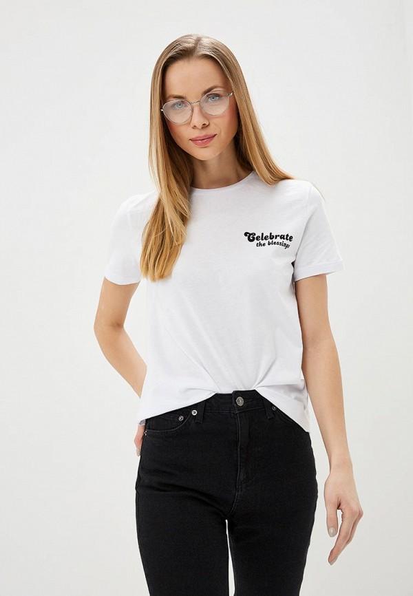 женская футболка modis, белая