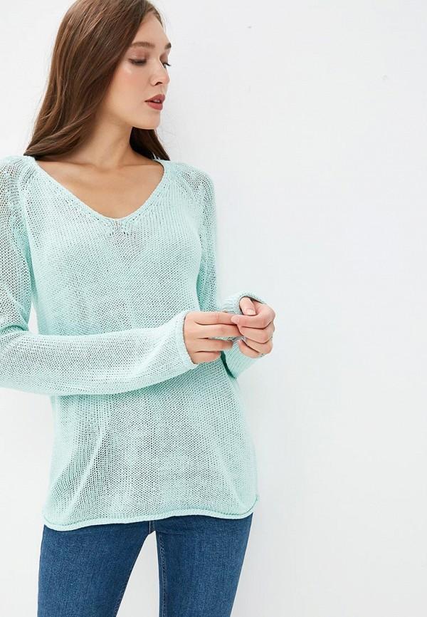 женский пуловер modis, бирюзовый