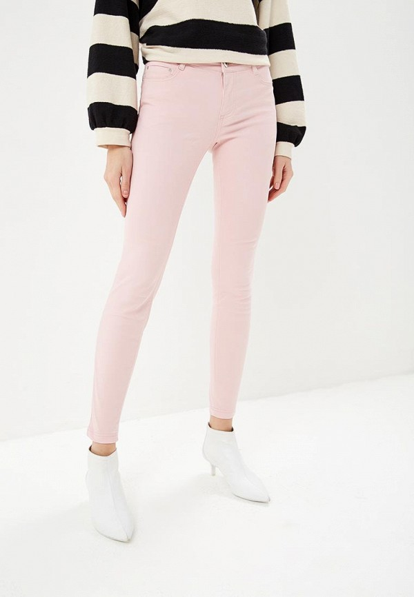 женские повседневные брюки modis, розовые