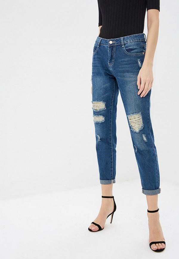 женские джинсы бойфренд modis, синие