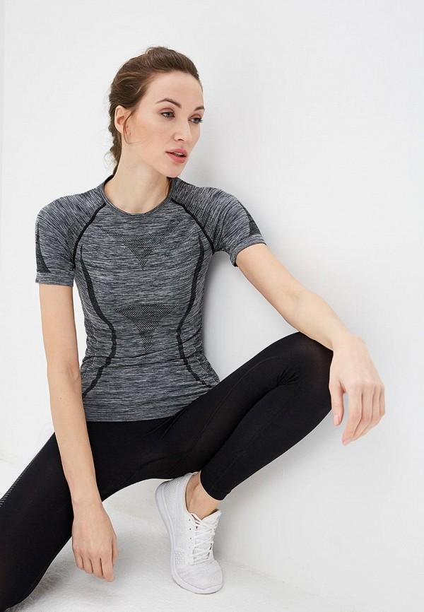 женская спортивные футболка modis, серая
