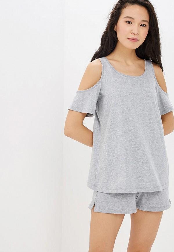женская футболка modis, серая