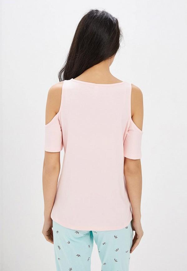 Фото 3 - женскую футболку Modis розового цвета