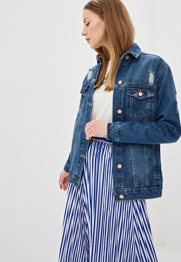 купить Куртка джинсовая Modis Modis MO044EWFAQL4 недорого